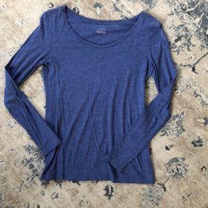 LOFT blue long sleeve t-shirt